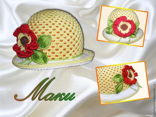 Панамы ручной работы. Ярмарка Мастеров - ручная работа. Купить Летние панамки для маленьких и больших леди. Handmade. Абстрактный, панамка