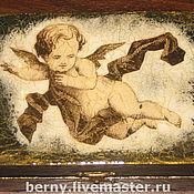 """Для дома и интерьера ручной работы. Ярмарка Мастеров - ручная работа шкатулка """"Ангел-хранитель"""". Handmade."""