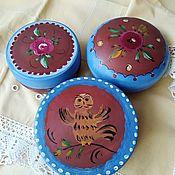 Русский стиль handmade. Livemaster - original item Box-round
