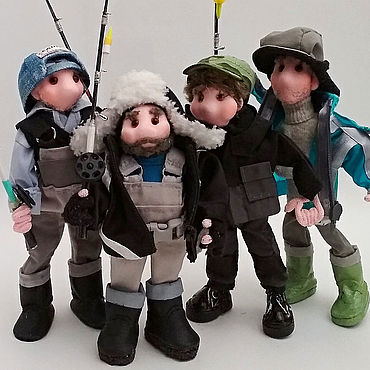 Куклы и игрушки ручной работы. Ярмарка Мастеров - ручная работа Компания рыбачков. Портретные куклы по фото. Handmade.