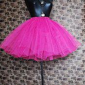 Одежда ручной работы. Ярмарка Мастеров - ручная работа Ярко-розовая юбка-пачка. Handmade.