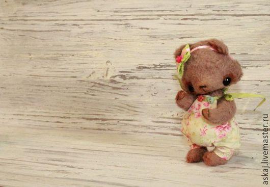 Мишки Тедди ручной работы. Ярмарка Мастеров - ручная работа. Купить Рози. Handmade. Коричневый, декоративные пуговицы, опилки древесные