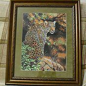 Картины и панно ручной работы. Ярмарка Мастеров - ручная работа Взгляд леопарда. Handmade.