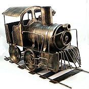 Модели ручной работы. Ярмарка Мастеров - ручная работа Веселый паровоз. Handmade.