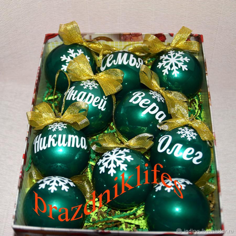 Елочный шар с именем, Подарок на Новый Год, Именные сувениры, Москва,  Фото №1