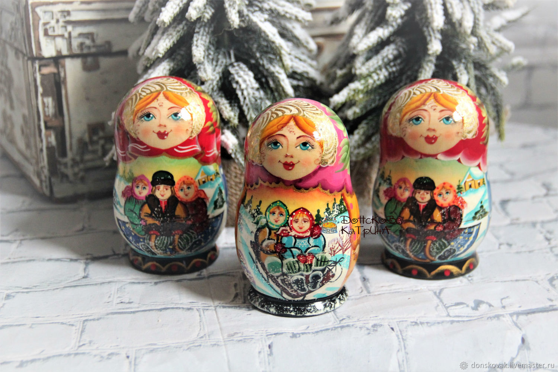 Матрешка - шкатулка с мини игрушками, Украшения, Москва, Фото №1
