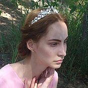 Свадебный салон handmade. Livemaster - original item Tiara of crystal and pearls