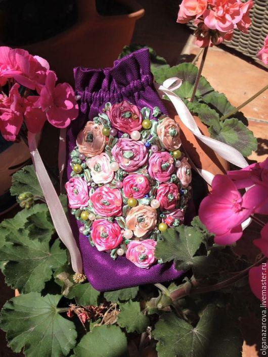 Женские сумки ручной работы. Ярмарка Мастеров - ручная работа. Купить мешочек с розами. Handmade. Аксессуары handmade, изящное украшение