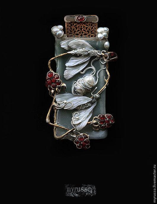 Кулоны, подвески ручной работы. Ярмарка Мастеров - ручная работа. Купить Imago lazurium: Cocoon. Handmade. Бордовый, бабочка, красный