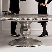 Для дома и интерьера ручной работы. Ярмарка Мастеров - ручная работа Стол круглый из зеркальной мозаики. Handmade.
