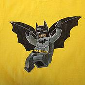 """Одежда ручной работы. Ярмарка Мастеров - ручная работа Футболка детская """"Лего Бэтмен"""", ручная роспись. Handmade."""