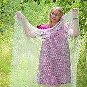 Аксессуары handmade. Livemaster - original item Openwork down shawl-gossamer. Handmade.