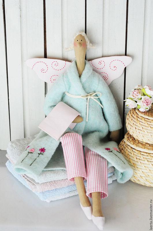 Куклы Тильды ручной работы. Ярмарка Мастеров - ручная работа. Купить Банные ангелы. Handmade. Мятный, тильда, ванная комната