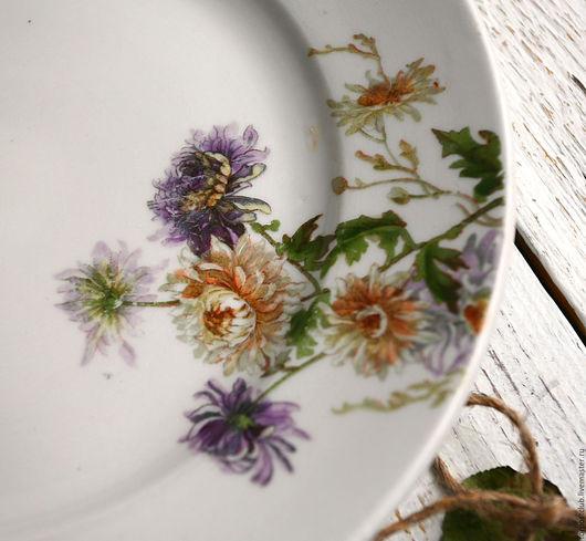 Винтажная посуда. Ярмарка Мастеров - ручная работа. Купить Тарелка большая Ранние Советы. Handmade. Комбинированный, продаю