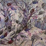 """Картины и панно ручной работы. Ярмарка Мастеров - ручная работа """"Осенний лес""""картина. смешанная техника,пейзаж.. Handmade."""