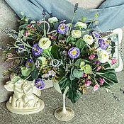 Съедобные букеты ручной работы. Ярмарка Мастеров - ручная работа Цветочная композиция «Очарование»,цветы в минимализме,цветы в рюмке. Handmade.