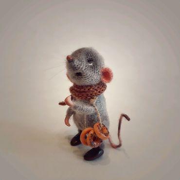 Куклы и игрушки ручной работы. Ярмарка Мастеров - ручная работа Мышонок Сенечка. Handmade.