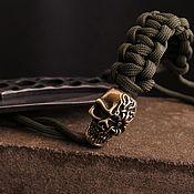 Сувениры и подарки handmade. Livemaster - original item Skull bead for knife. Handmade.