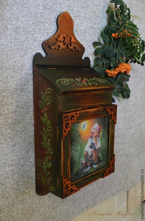 """Прихожая ручной работы. Ярмарка Мастеров - ручная работа. Купить Ключница """"Час, когда поют птицы"""". Handmade. Оранжевый, подарок"""