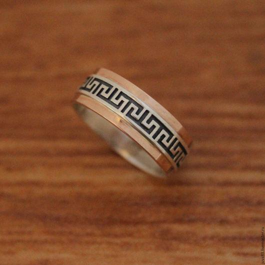 Кольца ручной работы. Ярмарка Мастеров - ручная работа. Купить Серебряное кольцо Греция, серебро 925. Handmade. Серебряный, меандр