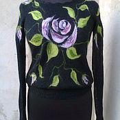 Одежда ручной работы. Ярмарка Мастеров - ручная работа свитерок вязаный из мохера. Handmade.