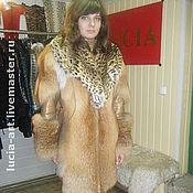 Одежда ручной работы. Ярмарка Мастеров - ручная работа куртка из лисы с питоном длинная. Handmade.