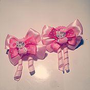 Работы для детей, ручной работы. Ярмарка Мастеров - ручная работа Резиночки для волос Hello Kitty. Handmade.