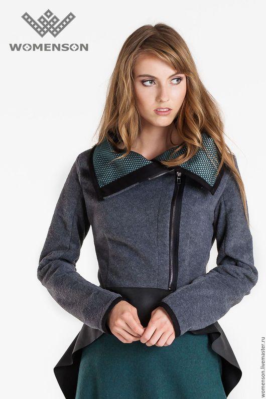 Верхняя одежда ручной работы. Ярмарка Мастеров - ручная работа. Купить Шерстяная куртка Gray Wool. Handmade. Серый