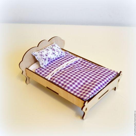 Кукольный дом ручной работы. Ярмарка Мастеров - ручная работа. Купить Кровать и постельное белье для кукольного домика. Handmade.