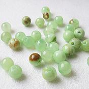 Материалы для творчества handmade. Livemaster - original item Onyx green 6 mm, beads ball smooth, natural stone. Handmade.
