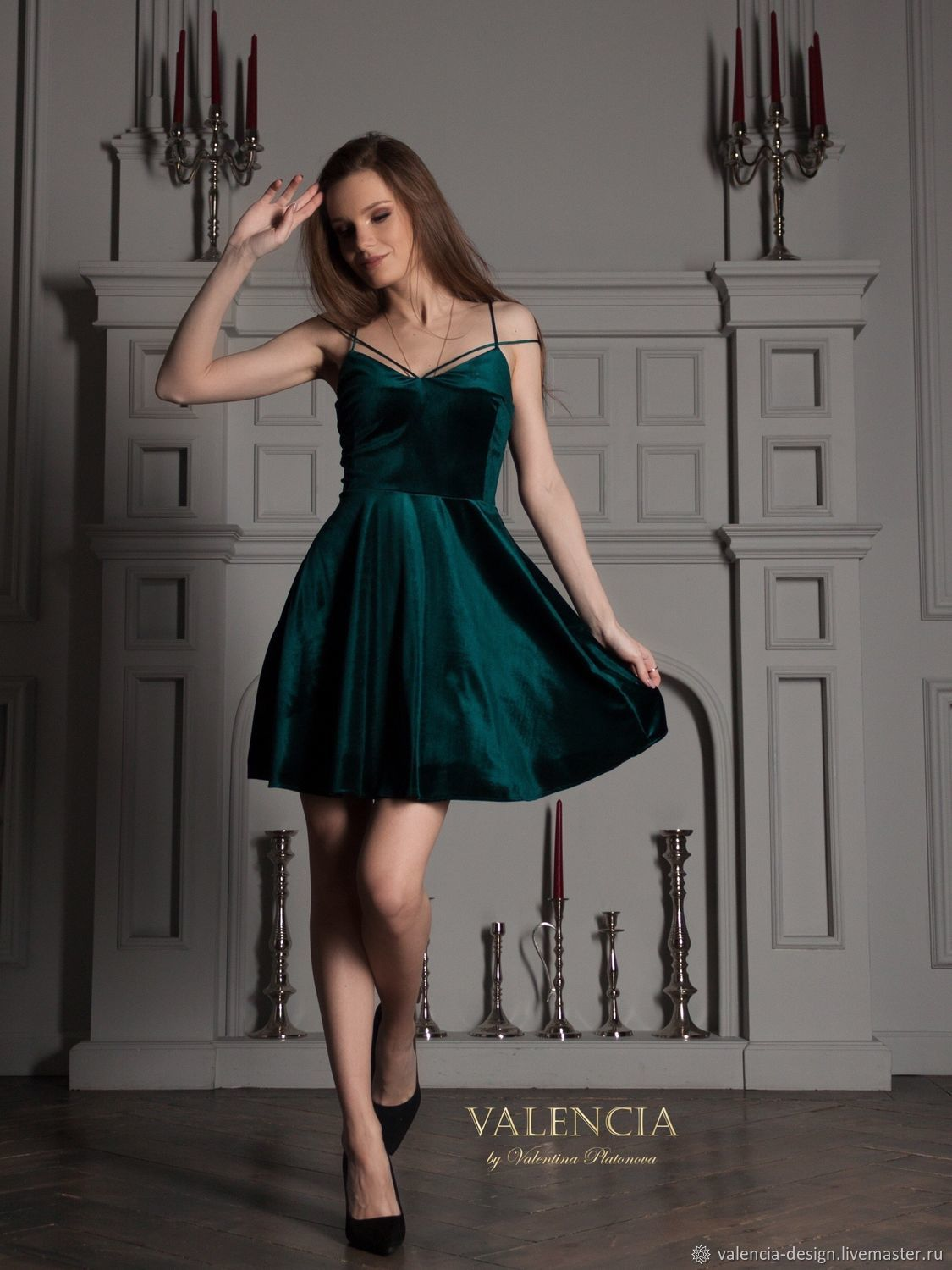 Giselle dress made of velvet (can be made in midi length), Dresses, Moscow,  Фото №1