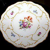 Винтаж handmade. Livemaster - original item Beautiful porcelain plate elite firm Weimar, Herm. Handmade.