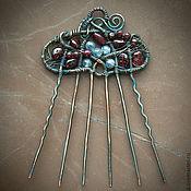 Украшения ручной работы. Ярмарка Мастеров - ручная работа Медный гребень, заколка для волос - Ведунья. Handmade.