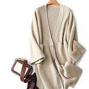 Одежда handmade. Livemaster - original item Ribbed cashmere cardigan. Handmade.