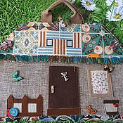 Кукольные домики ручной работы. Ярмарка Мастеров - ручная работа Кукольная сумочка-домик для куклы ростом до 15 см. Handmade.
