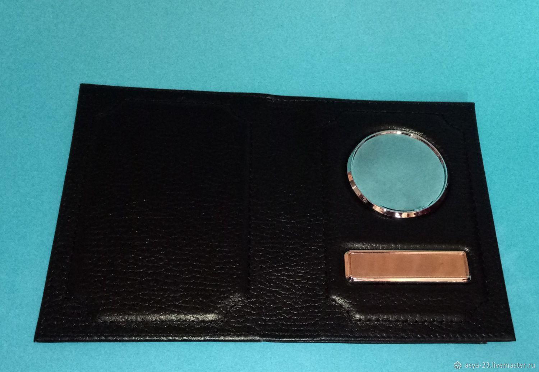 Обложка черная 3 в 1 (автодокументы+паспорт+кармашки), Обложка на паспорт, Учкекен,  Фото №1