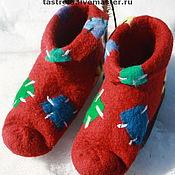 """Обувь ручной работы. Ярмарка Мастеров - ручная работа тапочки  """"Яркие заплатки"""". Handmade."""