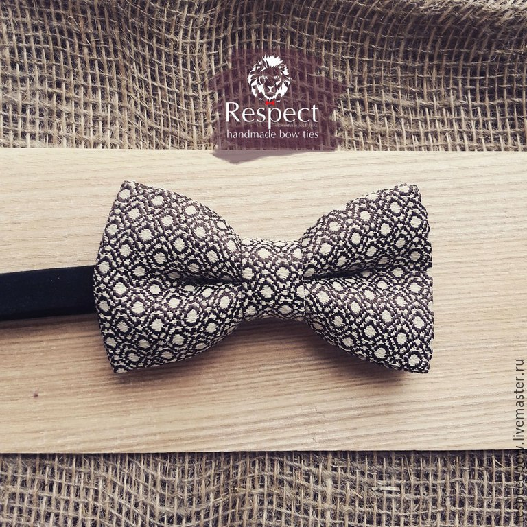 Tie butterfly Macho / gray bow tie in polka dot, Ties, Moscow,  Фото №1