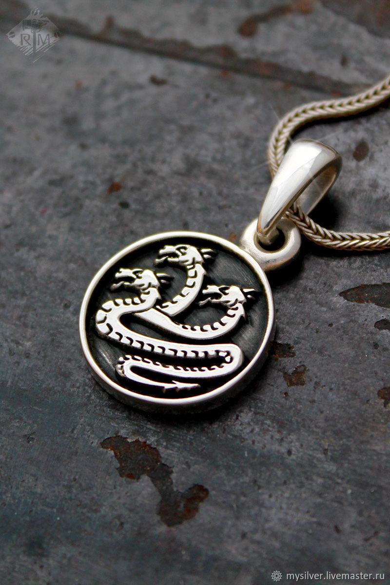Кулон серебряный Альфа легион (Alpha Legion), Warhammer 40000, Подвеска, Сочи,  Фото №1