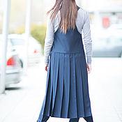 Одежда handmade. Livemaster - original item Stylish, long sleeveless vest - VE0015CW. Handmade.