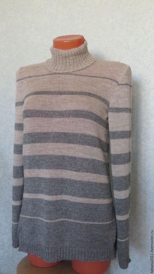 Кофты и свитера ручной работы. Ярмарка Мастеров - ручная работа. Купить Туника из бэби-альпаки. Handmade. Бежевый, женская туника