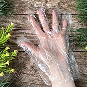 Косметика ручной работы handmade. Livemaster - original item Plastic gloves, 10 pcs. Handmade.
