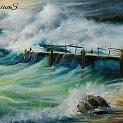 Картины и панно ручной работы. Ярмарка Мастеров - ручная работа Морские пейзажи(две картины). Handmade.