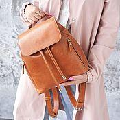 Сумки и аксессуары handmade. Livemaster - original item Women`s leather backpack