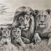 Картины и панно handmade. Livemaster - original item Oil painting Family 75h150 cm. Handmade.