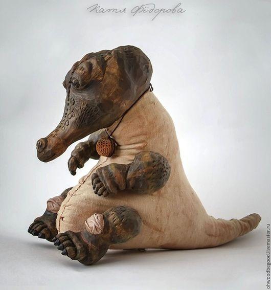 Игрушки животные, ручной работы. Ярмарка Мастеров - ручная работа. Купить Крокодил из дерева. Handmade. Хаки, скульптура из дерева, для ценителя