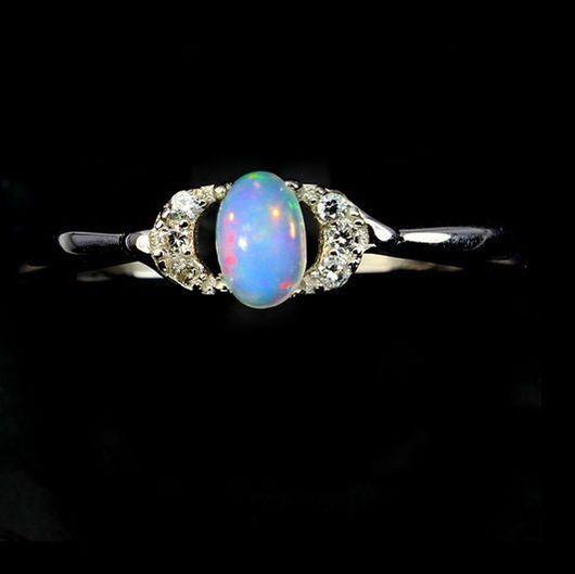 """Кольца ручной работы. Ярмарка Мастеров - ручная работа. Купить """" Изюминка """" кольцо с опалом Эфиопии. Handmade. Опал"""