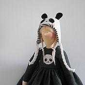 Куклы и игрушки ручной работы. Ярмарка Мастеров - ручная работа Тильда Девочка Панда. Handmade.