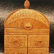 Для дома и интерьера ручной работы. Ярмарка Мастеров - ручная работа Шкатулка-комод из бересты. Handmade.