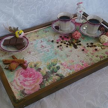 Для дома и интерьера ручной работы. Ярмарка Мастеров - ручная работа Интерьерный поднос- столик на ножках. Handmade.